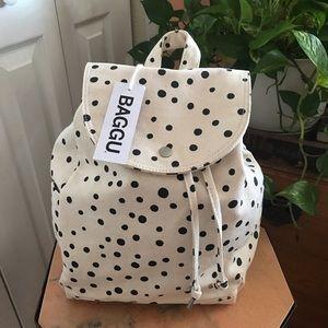 BAGGU Dot Canvas Backpack